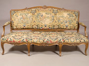 BBB75 Louis XV period Walnut & Tapestry Canape, France c. 1740