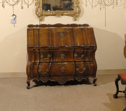ZZ310 Regence period Solid Walnut Linen-fold Bureau, Provence region France, c. 1720