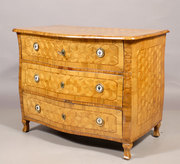 TT101 Austrian Neoclassical Commode with Cube Marquetry, c. 1820
