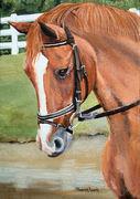 """Pet Portrait Painting Sample """"Chestnut Horse"""""""