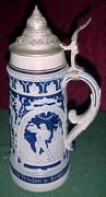German Lidded Beer Stein