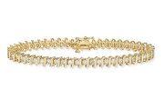 3 50 Carat Diamond 14K Gold Tennis Bracelet