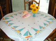 Lighthouses and Boats Tablecloth