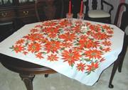 Calliprints Christmas Tablecloth