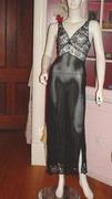 black silk chiffon nightgown