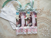 Vintage Couple Mixed Media Collage Tags