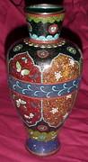 """Large 9"""" Tall Cloisonne Floral Vase"""