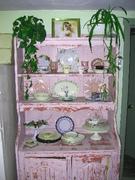 Shabby Chippy Pink Cottage Vintage Hutch
