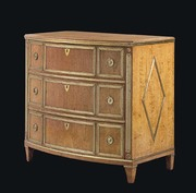 Russian Brass-mounted Bowfront Commode
