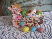 Mama Easter Bunny's Cart and Eggs
