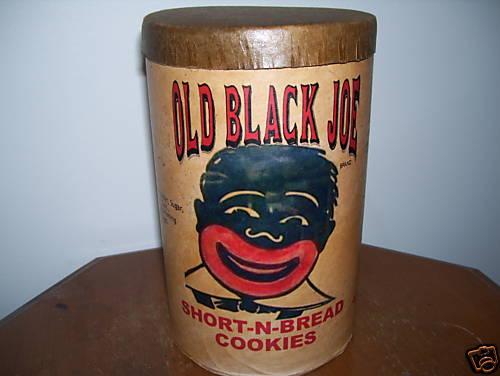 old black joe cardboard cookie cannister