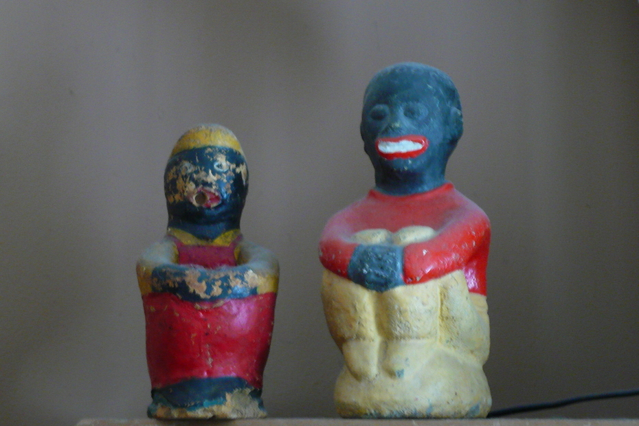 black americana cement statues