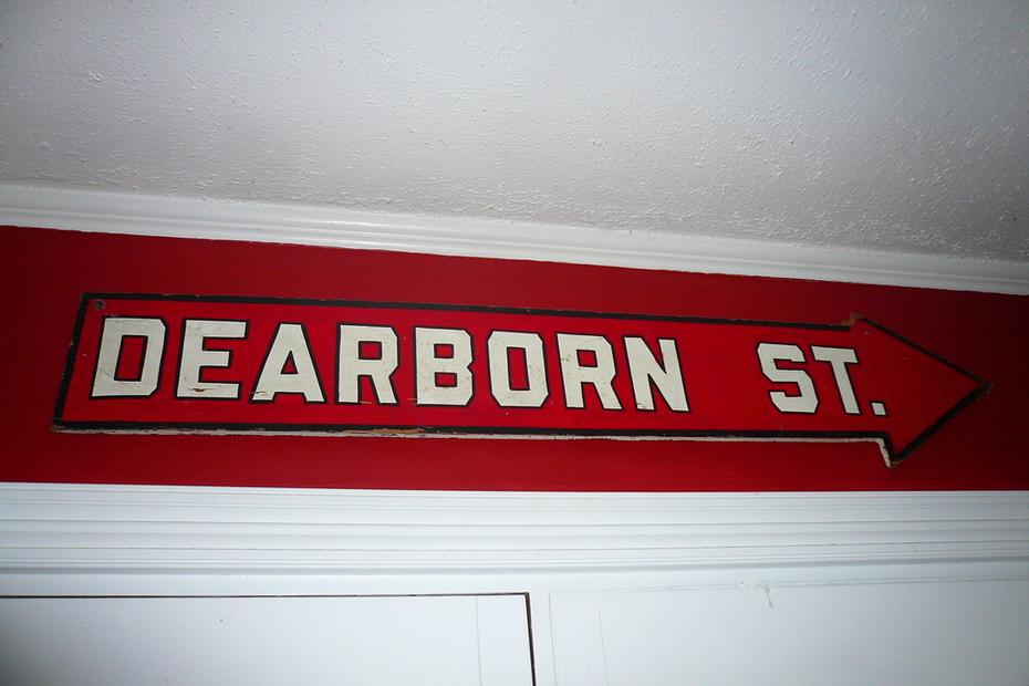 old wood street sign