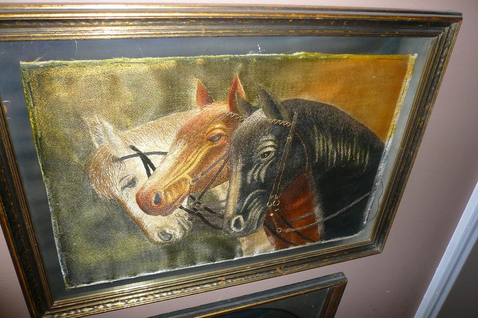 silk threaded pharoah's horses