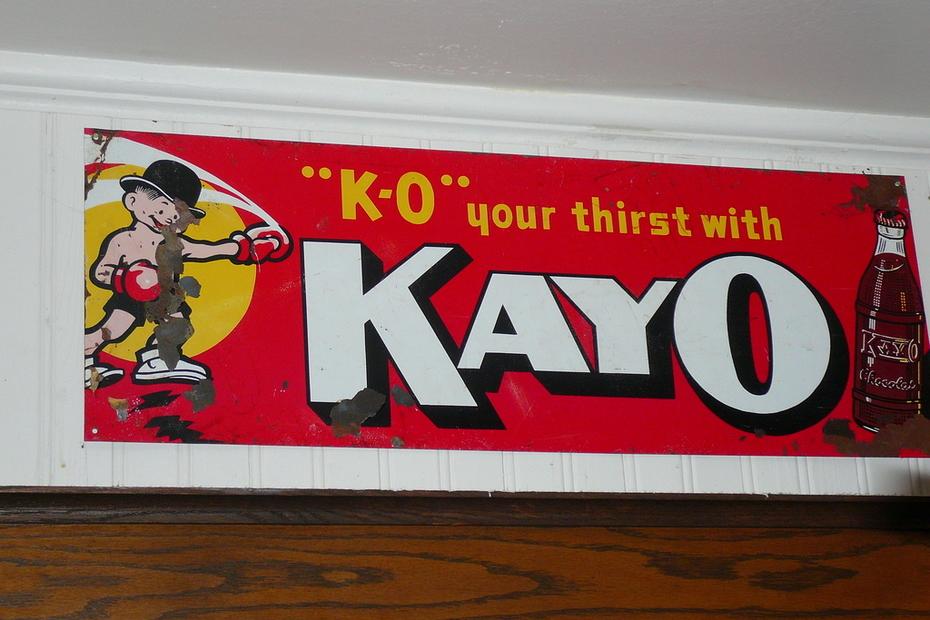 old soda sign