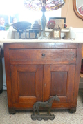 1800's primitive marble top wash stand