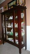 antique mission oak cabinet side view