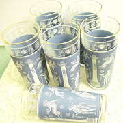 Jeanette Glass Corinthian Blue