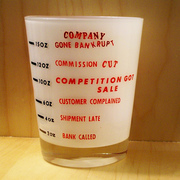 Salesman's Nite Cap 15 oz drink glass