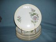 set of 6 floral plates