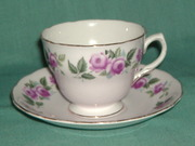 Colclough rose pink cup sau