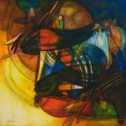 il surreale onirico 80x80  tecnica mista  2008