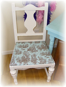 shabby toile chair~After