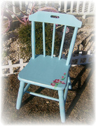 aqua rose chair