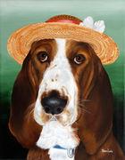 "Pet Portrait Painting Sample ""Basset Hound"""