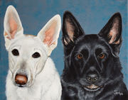 """Pet Portrait Painting Sample """"German Shepherd"""""""