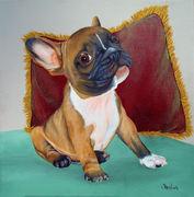 """Pet Portrait Painting Sample """"Puppy"""""""