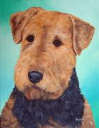 "Pet Portrait Painting Sample ""Lakeland Terrier"""