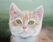"Pet Portrait Painting Sample ""Kitten"""