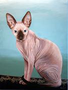 "Pet Portrait Painting Sample ""Sphynx"""