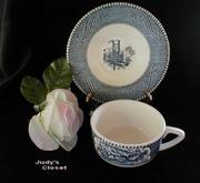 2380 Royal China Currier & Ives Cup/Saucer Set