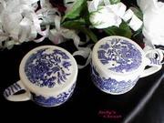 1039 Scio Blue Willow Salt/Pepper Set