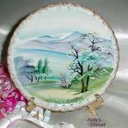 1020 Vintage Handpainted Ucagco Decorative Plate