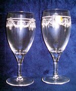 French Crystal wine glass set