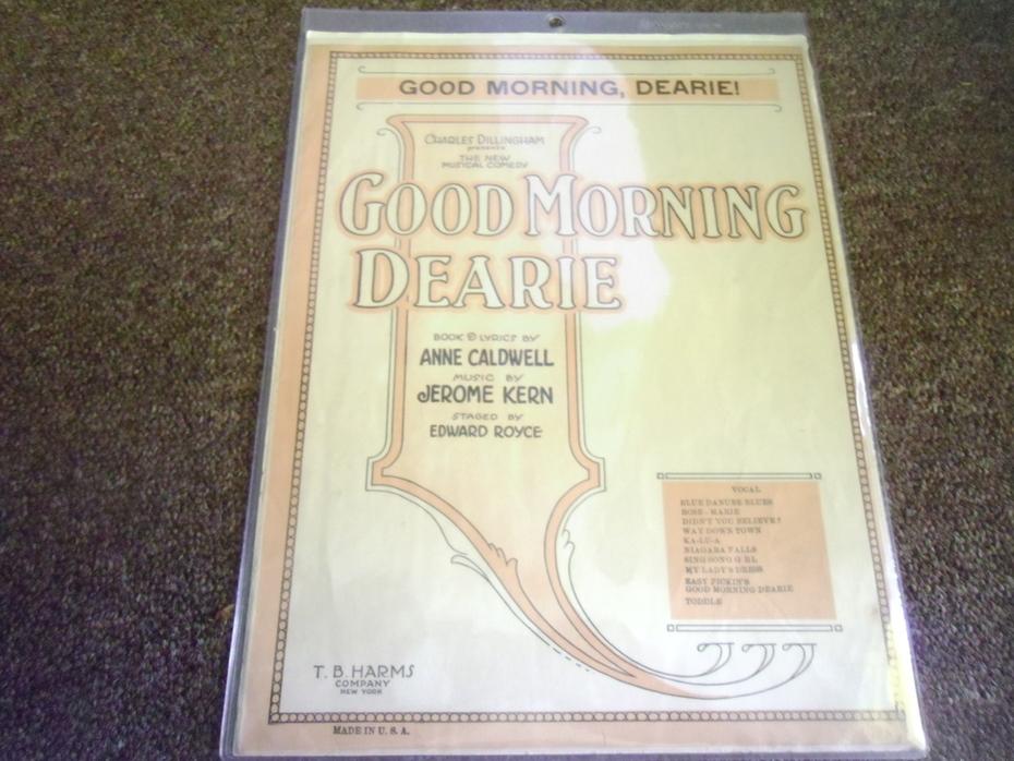 Good Morning Dearie (Music Sheet)