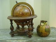 Old World Executive Desk Set Nautical Globe and Lighter