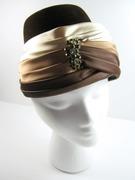Vintage Ladies Brown Hat Turban