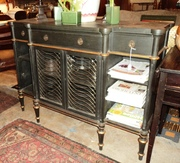 Painted Mid 20th Century sideboard with metal inset doors