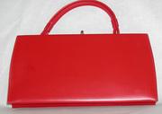 red theodor vintage handbag