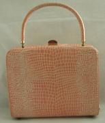 peach vintage handbag