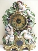 Noah Pomeroy Timepiece circa 1847-1878 ~ Nicholas Muller Cast Metal Clock Case