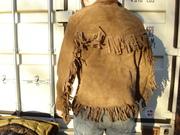 1960s Buckskin Suede Fringed Jacket Frontier Style