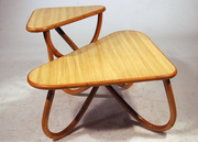 Rattan & Formica End Table