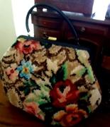 Vintage 50ish Soure Carpet Bag