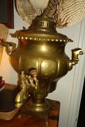 old brass samovar