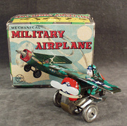 toy- w-up military airplane